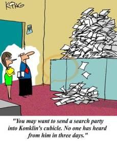 Overworked cartoon